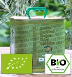 EAN: 4260585511179                    2,5 L BIO Premium Olivenöl Sorte = Arbequina von Biopal®